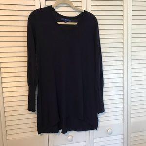 Navy tunic sweater